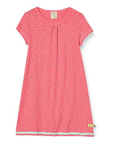 loud + proud Mädchen Dress Waffle Knit Organic Cotton Kleid, Rosa (Azalea Aza), (Herstellergröße: 74/80)