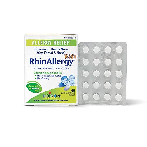 Boiron Rhinallergy Kids Tablets, 60Count, White