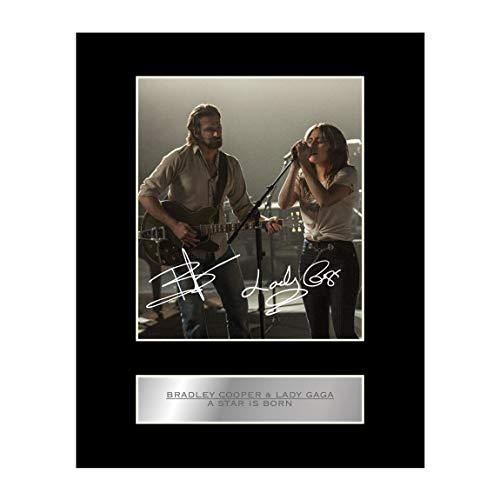 Bradley Cooper and Lady Gaga Signed Mounted Photo Display A Star is Born Autographed Gift Picture Print