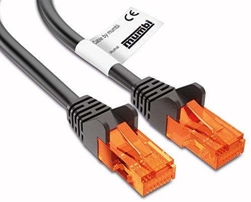 mumbi 23514 Cat.5e S/FTP Cavo di Rete Ethernet Patch con connettori RJ-45 10.0m, Nero
