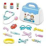 Youpin Doctor Set Medical Box Accesorios de Hospital Estetoscopio Bolso de mano 15 piezas/lote Mini Herramientas de Doctor Juguetes para Niños (Color: Azul)