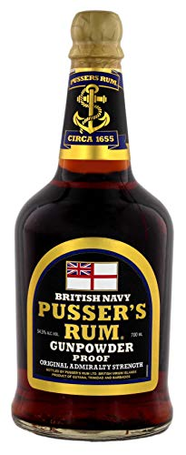 Pusser's British Navy Rum Black Label Gunpowder Proof