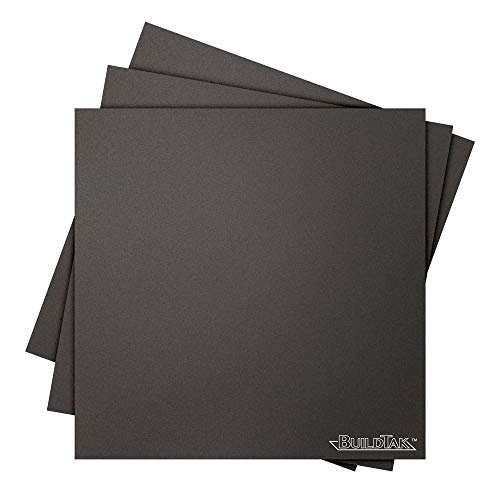 BuildTak 3D Printing Build Surface, 8' x 8' Square, Black (Pack of 3)