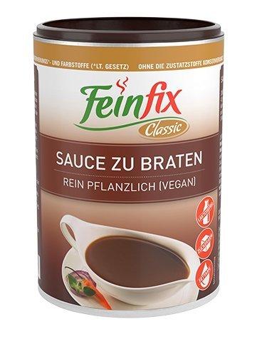 Feinfix Classic Sauce zu Braten 207g ( 2,2l Soße ) | Soßenbinder lactosefrei & vegan Pulver vegetarisch für Bratensoße / Gemüse Soße / Bratensaucen zum Grillen / Nudeln Soße | K0-SRXF-JLEI