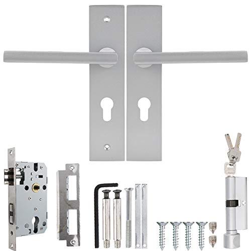 Cerradura de manija de puerta Estilo europeo Espacio Aluminio Interior Dormitorio Sala de estar Cerradura de seguridad mecánica para puertas de madera Puertas de dormitorio