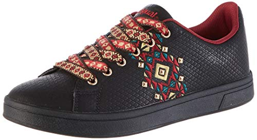 Desigual Damen Shoes Cosmic Navajo Sneaker, Schwarz (Black 2000), 36 EU