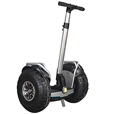 eco-glide Smart Self Balance Scooter Personal Transporter 19 inch All Terrain Tires (Grey)