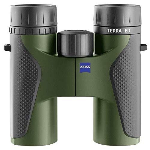 Zeiss Terra ED Fernglas, 8 x 32, robust, leicht und kompakt, Schwarz / Grün