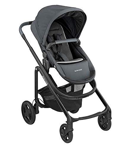 Maxi-Cosi Lila CP Passeggino Comodo e Maneggevole, Richiudibile con una mano, Reclinabile, Reversibile Fronte Strada Fronte Mamma, Da 6 mesi a 4 anni, 0-22 kg, Essential Graphite