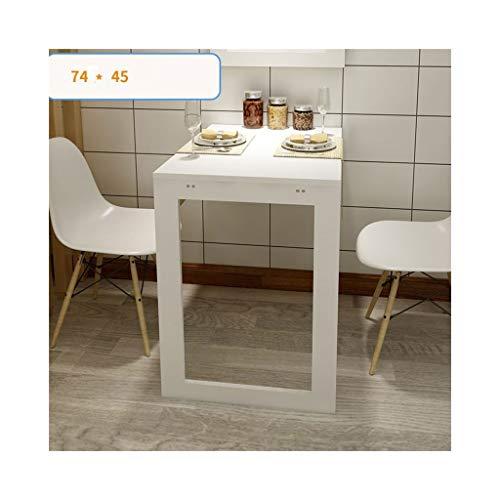 YMXLJF Tavolo pieghevole foglia, tavoli scrivania multi-funzione del computer da scrivania per bambini, tavoli da cucina, tavoli da parete a parete (colore : Bianca, dimensioni : 90 * 60CM)