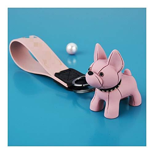 gxglhgsy Llavero Llaveros de Cuero for Perros for joyería Bolsa de Las Mujeres Pendientes de la baratija de los Hombres del Anillo dominante del Coche Llavero (Color : 230 Pink)