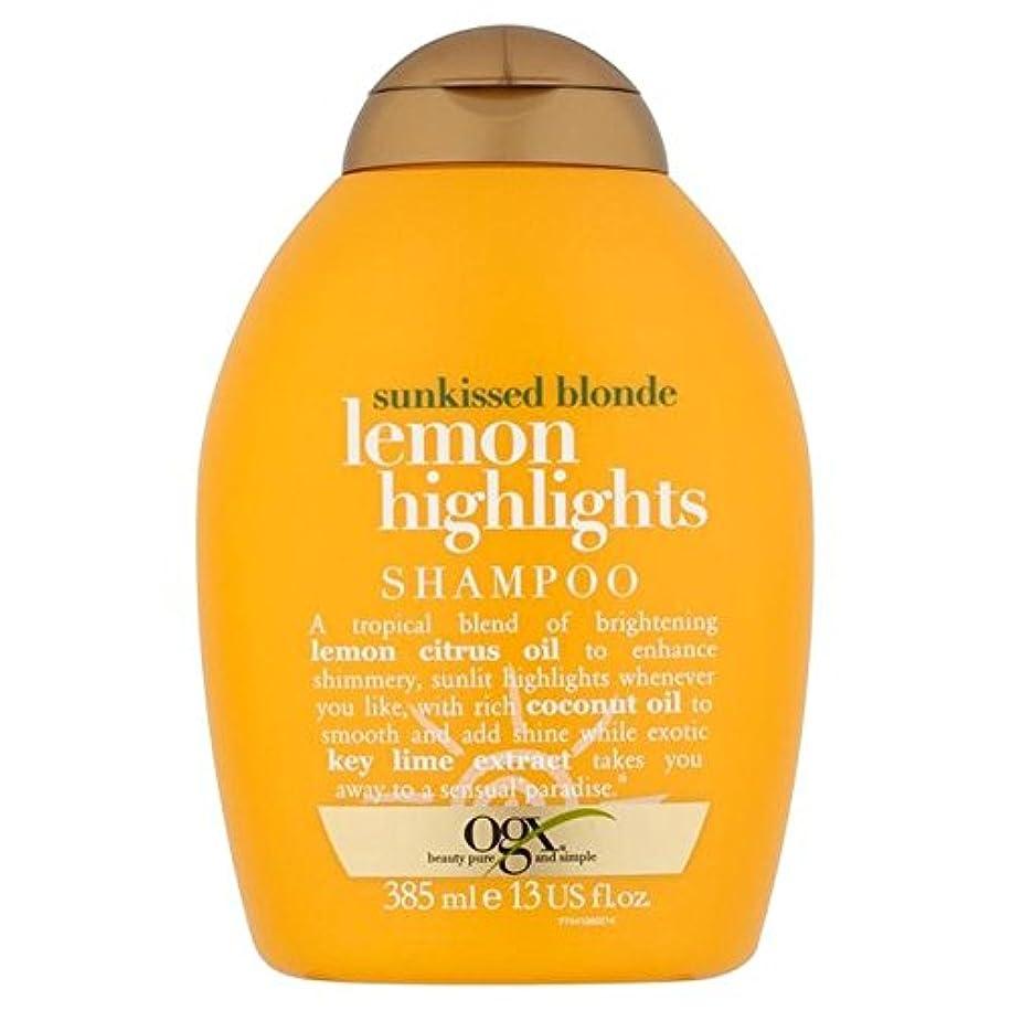 Ogx Blonde Lemon Highlights Shampoo 385ml - ブロンドレモンハイライトシャンプー385ミリリットル [並行輸入品]