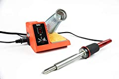 High performance analog soldering station produces up to 900° F to handle many soldering projects Variable power control dial adjusts power from 5 watts to 40 watts for accuracy Quality, lightweight pencil iron with cushioned foam grip provides exten...