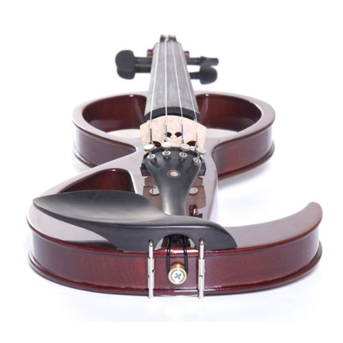 Cecilio CEVN-3NA Style 3 Silent Electric Solid Wood Violin with Ebony...