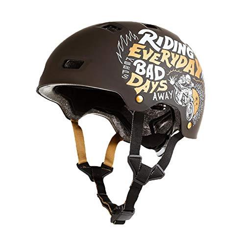 Kinder Erwachsene Einstellbare Skateboard Brushe Street Helm MF Series OXELO-L Kopfumfang (59cm-62cm) L 3