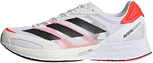 adidas Adizero Adios 6 M, Zapatillas para Correr Hombre, FTWR White Core Black Solar Red, 47 1/3 EU