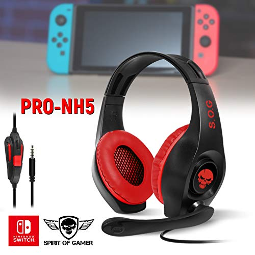 Casque Audio Pro Nh5 Pour Nintendo Switch Spirit Of Gamer Stereo 40mm