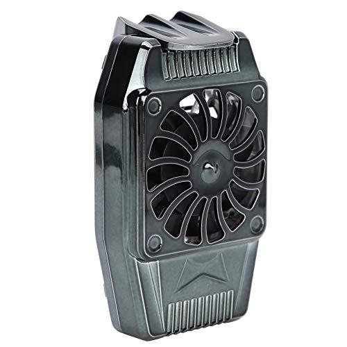 Radiador Universal para teléfono móvil, Ventilador de refrigeración portátil para teléfono Inteligente, refrigeración Fuerte, Funcionamiento con Poco Ruido, Compacto y portátil sin Bloquear