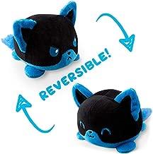 TeeTurtle Reversible Fox Mini Plush, Blue/Black
