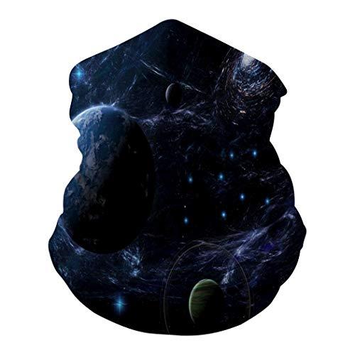 Buntes Kaleidoskop, 1 Multifunktions-Haarband, Kopfbedeckung, bequem, elastisch, belüftet für den Außenbereich Gr. Einheitsgröße, Milky Galaxy3