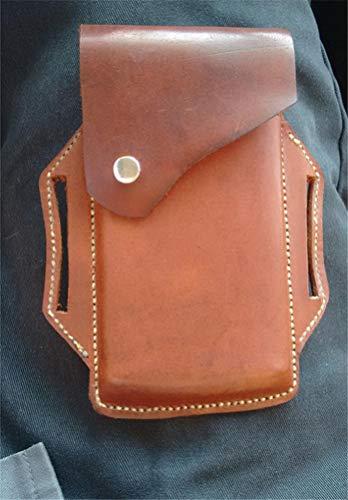 Gürtel Münztasche Mittelalterliche Hüfttasche Wikinger Gürtel Tasche PU Leder Gürtel Tasche Purs Handy Holster für Männer und Frauen (Braun)