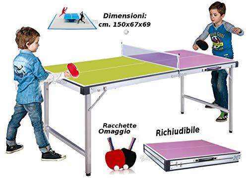 StrMy Tafeltennistafel, inklapbaar, met rackets