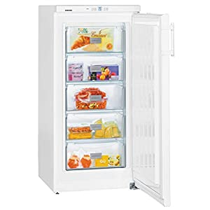 Liebherr GP2033 Comfort Freestanding SmartFrost Freezer with Automatic SuperFrost Function, 156 Litre, White