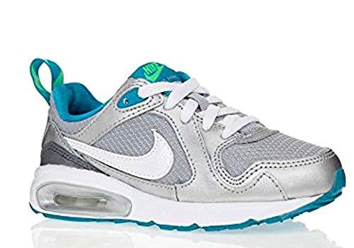Nike Air Max Trax (PS), Scarpe da Fitness Bambina, Blu/Grigio/Nero/Argento Metallizzato/Verde Elettrico (Azul Gris Negro Plateado Bl Lgn Elctr Grn Blk Mtllc Slv), 30 EU