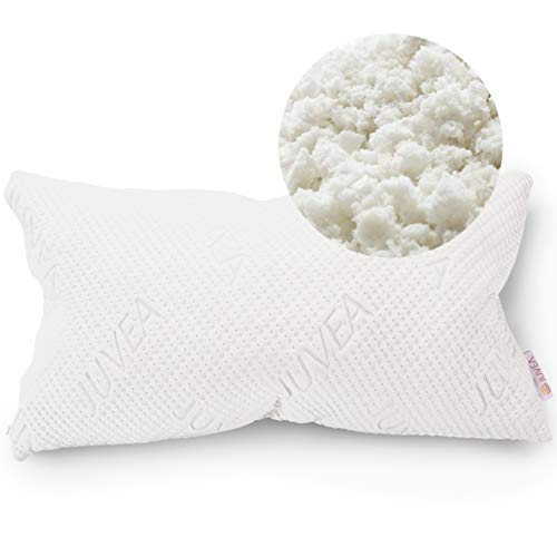 JUVEA 100% Natural, Adjustable Talalay Latex Down Alternative Pillow, Cotton Breathable Cover, Best Sleeping Pillow to Support Head and Neck, King Size Pillow - ComforFill – Made in USA