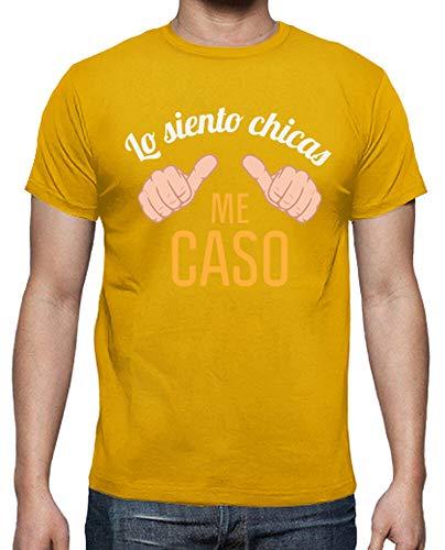 latostadora - Camiseta Despedida de para Hombre Amarillo Mostaza L