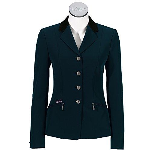 Pikeur Damen Sakko Skarlett (69er Qualität) mit Samtkragen (elastisch & pflegeleicht), Uni, Navy-with Velvet Collar