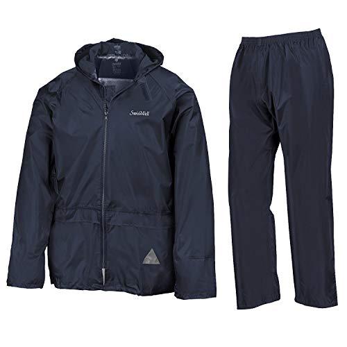 SWISSWELL Men's Lightweight Rain Suit Waterproof Running Hooded Rainwear