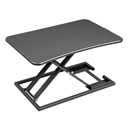 EPHEX Ergonomischer Höhenverstellbarer Schreibtisch, Sitz-Steh-Schreibtisch Computer Monitor&Laptop Standtisch Sit-Stand Workstation, 72.5 x 47cm Plattform, Höhenverstellbar von 6cm zu 39.5cm