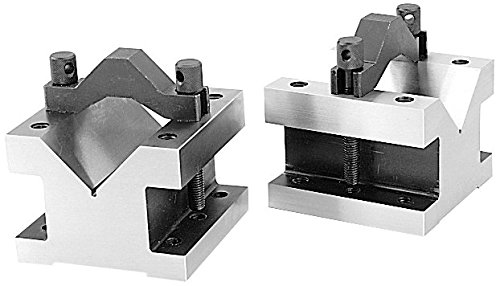 1-3//8/'/' x 1-3//8/'/' Ultra-Precision V-Block /& Clamp Set in Fitted Box #EG10-9011