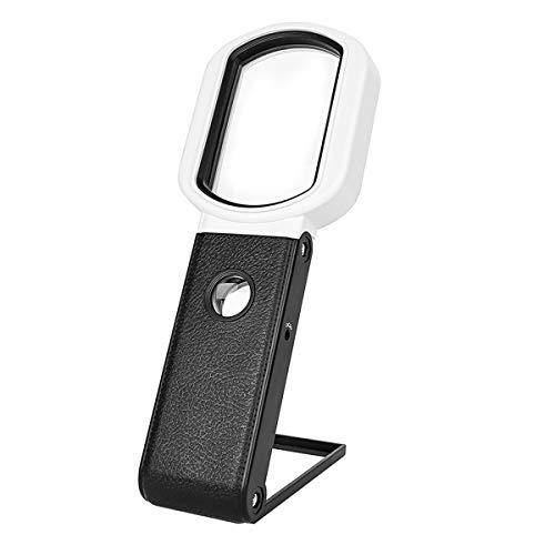 LED Handlupe mit Licht 25X 10X beleuchtete Leselupe stehend & Handheld für Senioren Leselupe für Senioren Kinder Hobby Juwelier