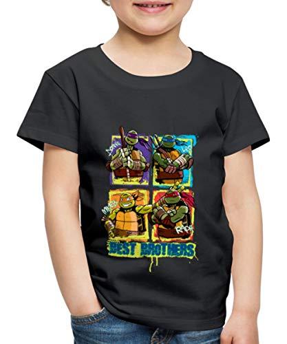 TMNT Turtles Donnie Leo Mikey Raph Best Brothers Kinder Premium T-Shirt, 134-140, Schwarz