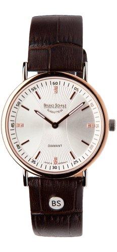 Bruno Söhnle Damen Analog Quarz Uhr mit Leder Armband 17-63124-251
