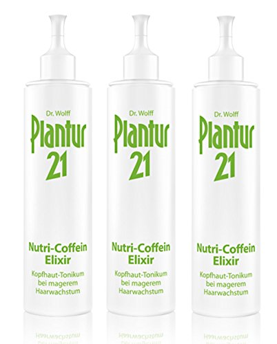 3er Nutri Coffein Elixier Plantur 21 Kopfhaut Tonikum bei magerem Haarwachstum 200 ml