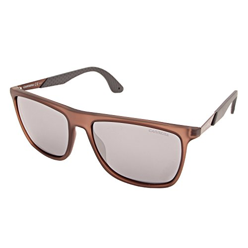 Carrera 5018/S 3R MJE Occhiali da sole, Marrone (Matte Brown Grey/Grey Fl Slv), 56 Uomo