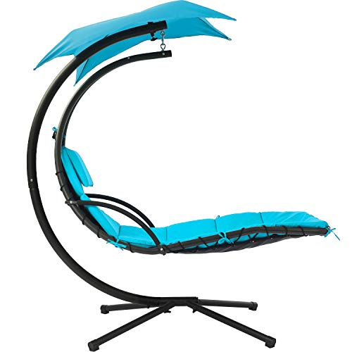 FDW Patio Chair Hanging Chaise Lounger Chair Floating Chaise Canopy...