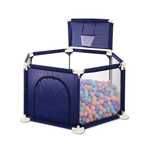 LIUFS-Clôture Clôture de jeu pour enfants Tapis rampant pour barrière de sécurité Aire de jeu intérieure (Couleur : Blue+Ocean ball*200++crawling mat)
