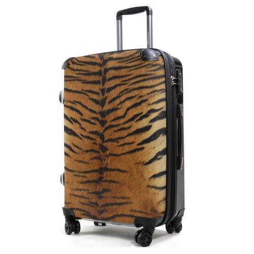 Hauptstadtkoffer Style - Maleta rígida - 57 litros - Carcasa Delantera Transparente - DISEÑO Intercambiable - Cerradura TSA (Piel de Tigre)