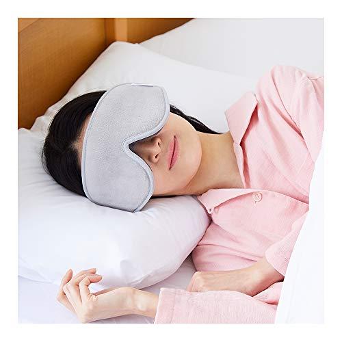 リフランス (liflance) 【 スリープマスク コンフォート 】 アイマスク 睡眠用 安眠 快眠 遮光 疲労回復 眼精疲労 旅行グッズ 立体 繰り返し 痛くない 大きめ (F)