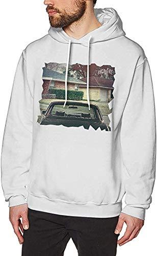 MLTseown Hombre Sudaderas con Capucha, Mens Fashion Print with Arcade Fire The Suburbs Logo Pullover Hooded Sweatshirt