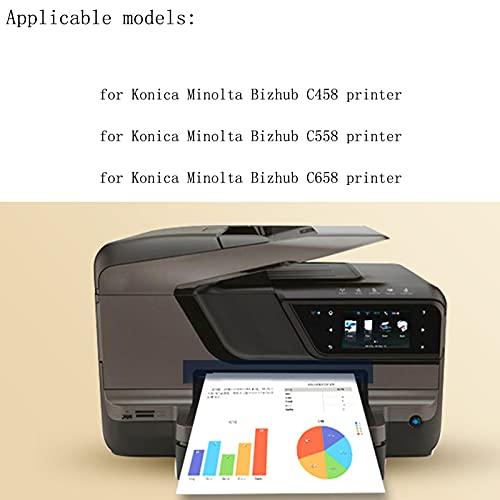AXAX Tóner compatible con Konica Minolta TN514, cartuchos de tóner de repuesto para impresoras Konica Minolta Bizhub C458, C558 y C658, color cian