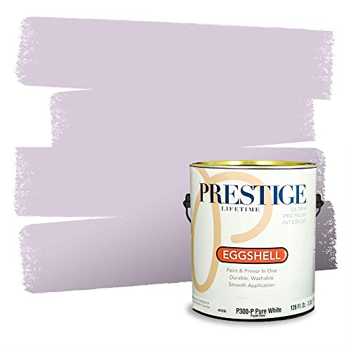 Prestige Paints Interior Paint and Primer In One, 1-Gallon, Eggshell, Comparable Match of Valspar* Early Lilac*