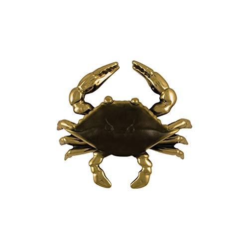 Blue Crab Door Knocker - Brass (Standard Size)