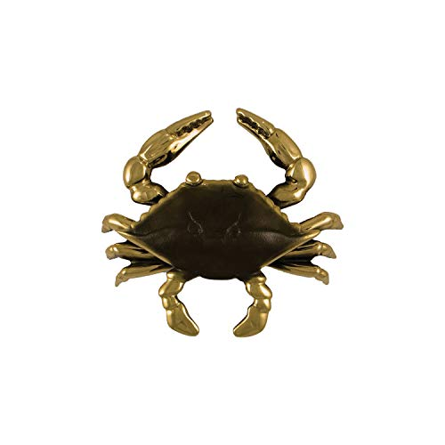 Blue Crab Door Knocker - Brass (Standard Size)