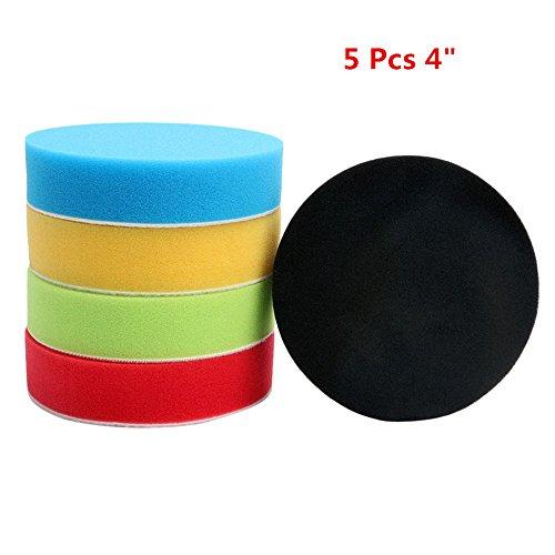 Happyit Y103 Vlakke spons-polijstpas-installatieset voor auto-polijstmachine - polijstmachine - spons-buffer-pad (5 stuks)