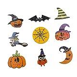 Bottoni in legno per Halloween, confezione da 50 bottoni e bottoni rotondi, decorazioni, basati su vari temi e vacanze, con 2 fori per fai da te, scrapbooking, cucito e biglietti.